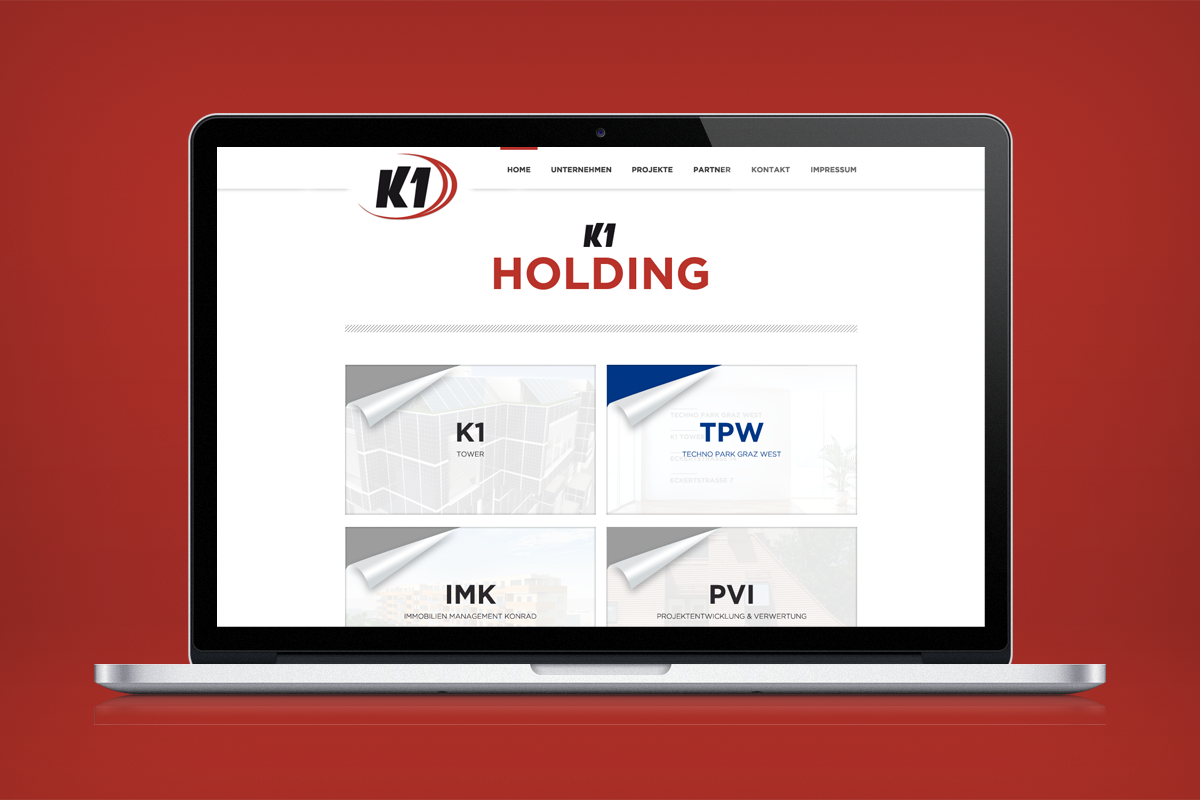 K1 Holding Website Design