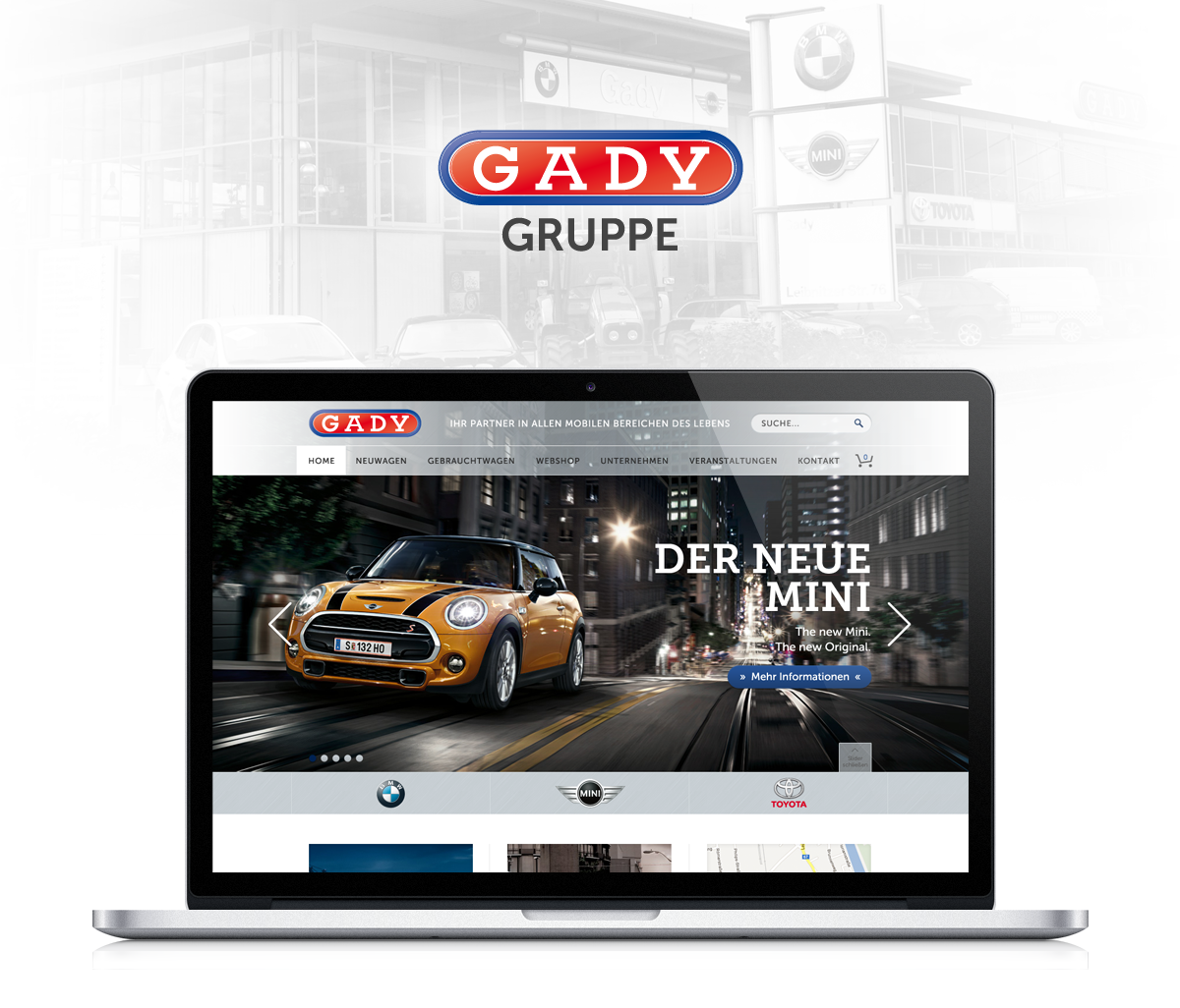 Gady Website Design